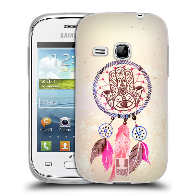 Silikonové pouzdro na mobil Samsung Galaxy Young HEAD CASE Lapač Assorted Hamsa (Silikonový kryt či obal na mobilní telefon Samsung Galaxy Young GT-S6310)