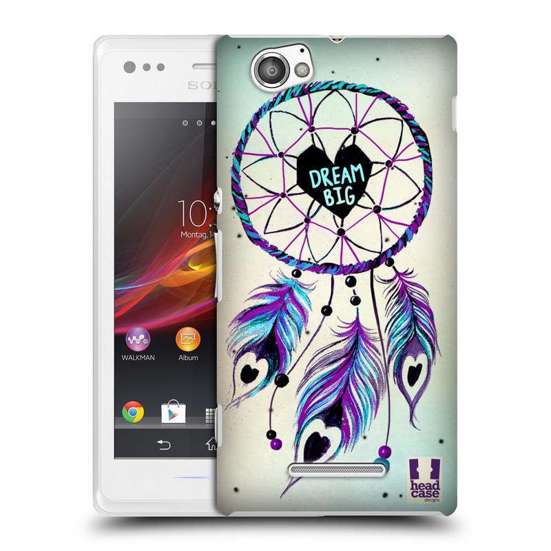 Plastové pouzdro na mobil Sony Xperia M C1905 HEAD CASE Lapač Assorted Dream Big Srdce (Kryt či obal na mobilní telefon Sony Xperia M )