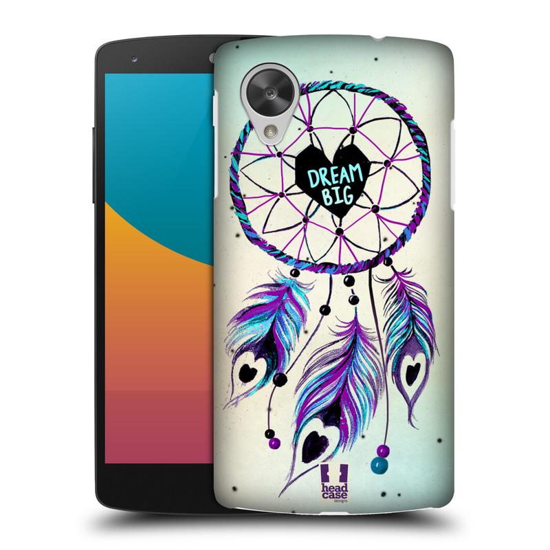 Plastové pouzdro na mobil LG Nexus 5 HEAD CASE Lapač Assorted Dream Big Srdce (Kryt či obal na mobilní telefon LG Google Nexus 5 D821)