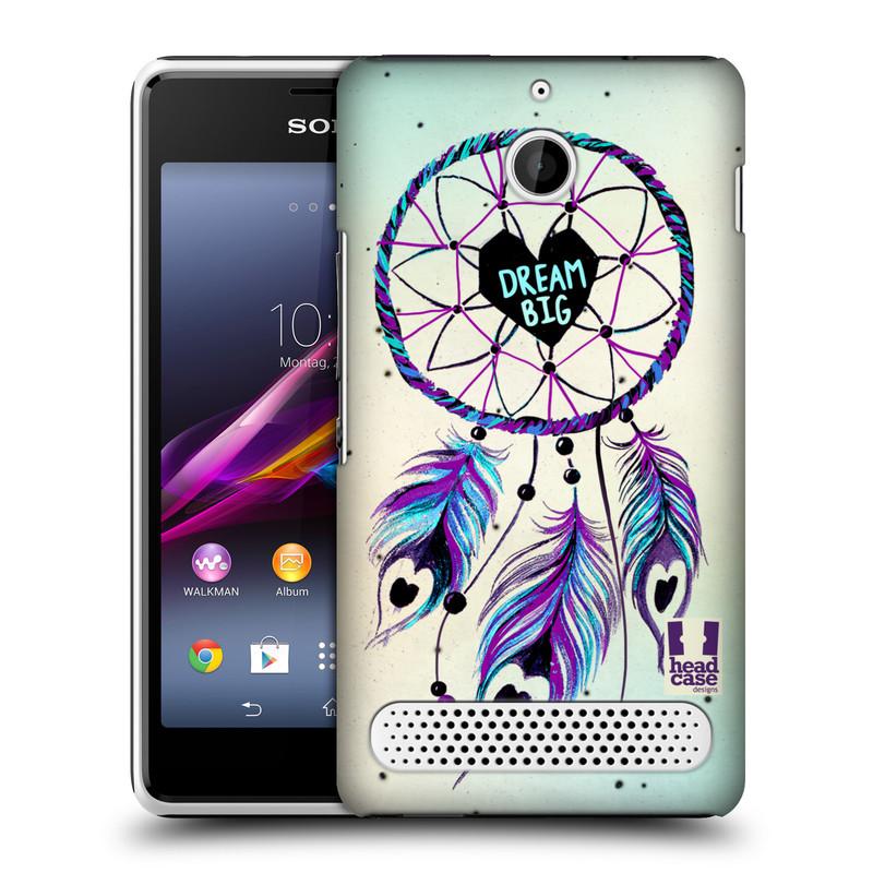 Plastové pouzdro na mobil Sony Xperia E1 D2005 HEAD CASE Lapač Assorted Dream Big Srdce (Kryt či obal na mobilní telefon Sony Xperia E1 a E1 Dual)
