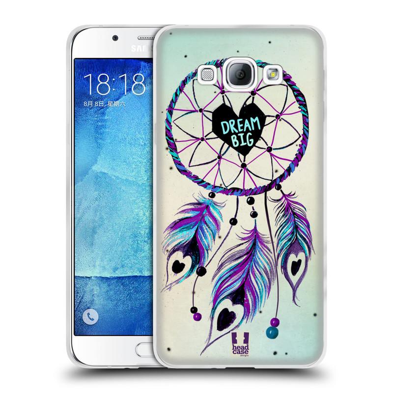 Silikonové pouzdro na mobil Samsung Galaxy A8 HEAD CASE Lapač Assorted Dream Big Srdce (Silikonový kryt či obal na mobilní telefon Samsung Galaxy A8 SM-A800)