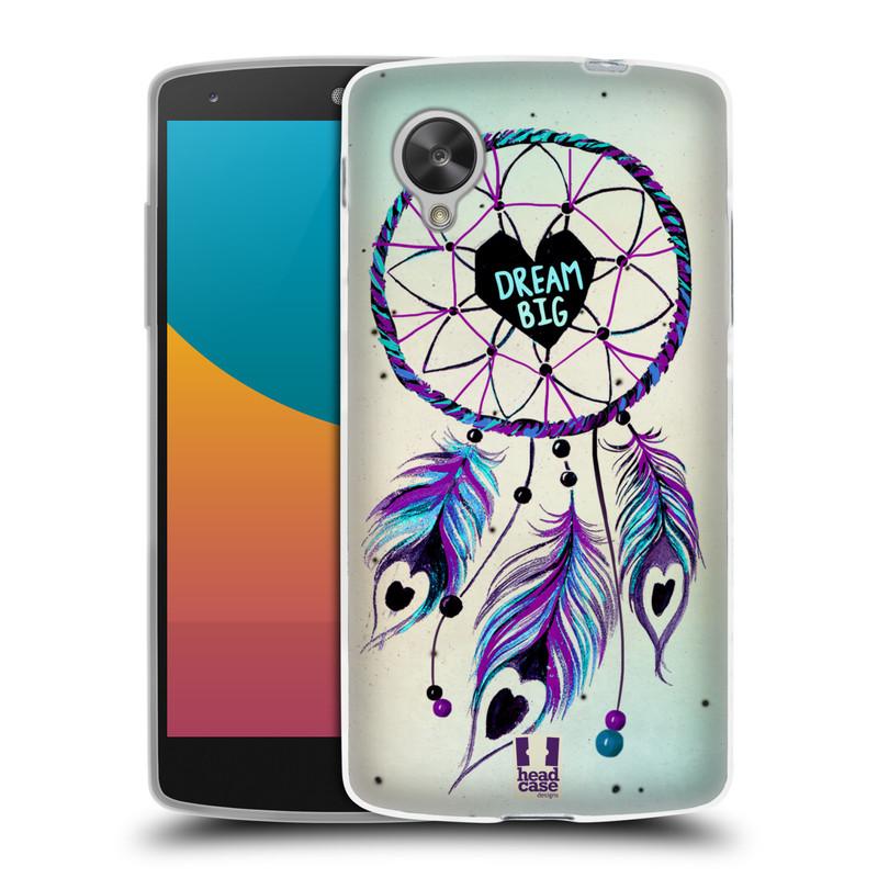Silikonové pouzdro na mobil LG Nexus 5 HEAD CASE Lapač Assorted Dream Big Srdce (Silikonový kryt či obal na mobilní telefon LG Google Nexus 5 D821)