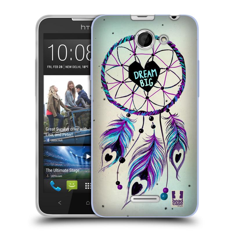 Silikonové pouzdro na mobil HTC Desire 516 HEAD CASE Lapač Assorted Dream Big Srdce (Silikonový kryt či obal na mobilní telefon HTC Desire 516 Dual SIM)