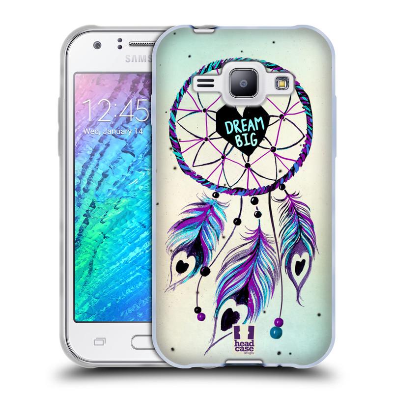 Silikonové pouzdro na mobil Samsung Galaxy J1 HEAD CASE Lapač Assorted Dream Big Srdce (Silikonový kryt či obal na mobilní telefon Samsung Galaxy J1 a J1 Duos)