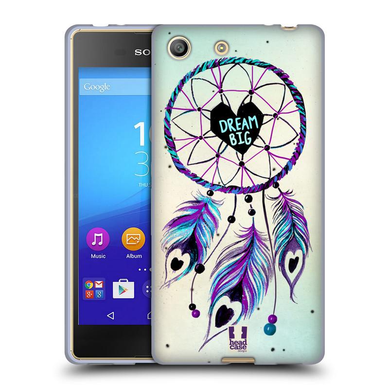 Silikonové pouzdro na mobil Sony Xperia M5 HEAD CASE Lapač Assorted Dream Big Srdce (Silikonový kryt či obal na mobilní telefon Sony Xperia M5 Dual SIM / Aqua)