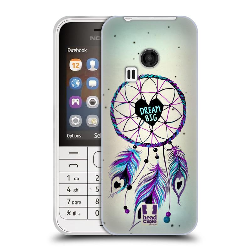 Silikonové pouzdro na mobil Nokia 220 HEAD CASE Lapač Assorted Dream Big Srdce (Silikonový kryt či obal na mobilní telefon Nokia 220 a 220 Dual SIM)