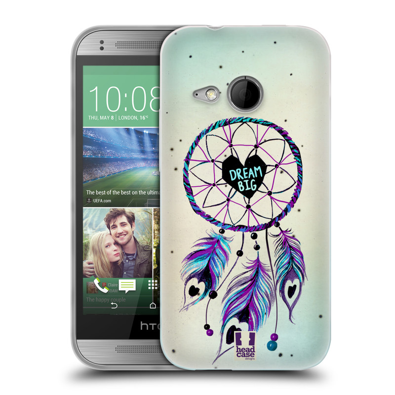 Silikonové pouzdro na mobil HTC ONE Mini 2 HEAD CASE Lapač Assorted Dream Big Srdce (Silikonový kryt či obal na mobilní telefon HTC ONE Mini 2)