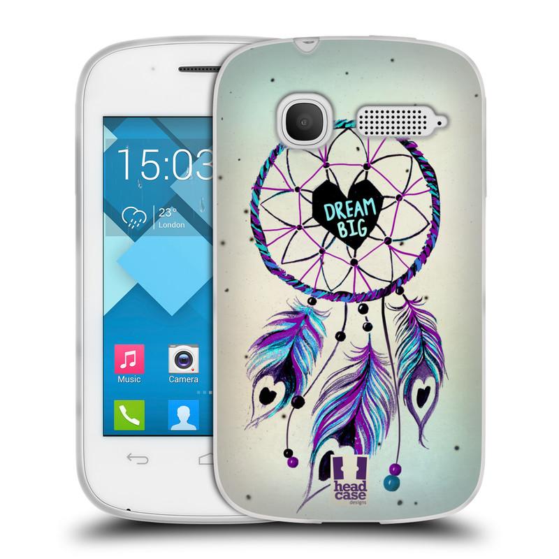 Silikonové pouzdro na mobil Alcatel One Touch Pop C1 HEAD CASE Lapač Assorted Dream Big Srdce (Silikonový kryt či obal na mobilní telefon Alcatel OT-4015D POP C1)
