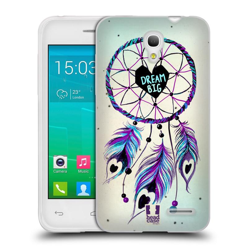 Silikonové pouzdro na mobil Alcatel One Touch Pop S3 HEAD CASE Lapač Assorted Dream Big Srdce (Silikonový kryt či obal na mobilní telefon Alcatel OT- 5050Y POP S3)