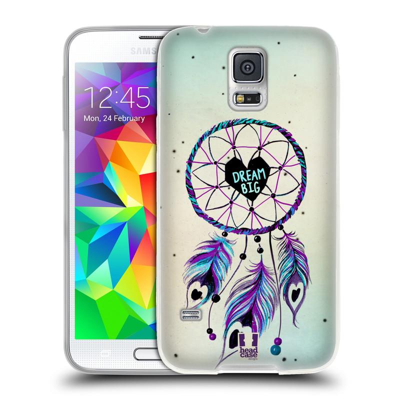 Silikonové pouzdro na mobil Samsung Galaxy S5 HEAD CASE Lapač Assorted Dream Big Srdce (Silikonový kryt či obal na mobilní telefon Samsung Galaxy S5 SM-G900F)