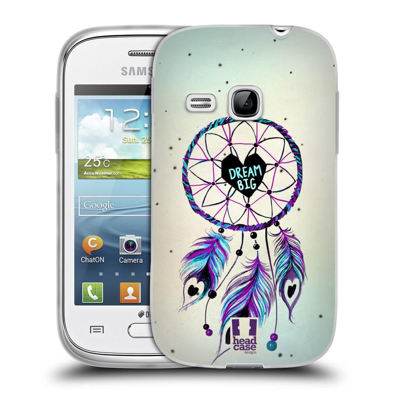 Silikonové pouzdro na mobil Samsung Galaxy Young HEAD CASE Lapač Assorted Dream Big Srdce (Silikonový kryt či obal na mobilní telefon Samsung Galaxy Young GT-S6310)