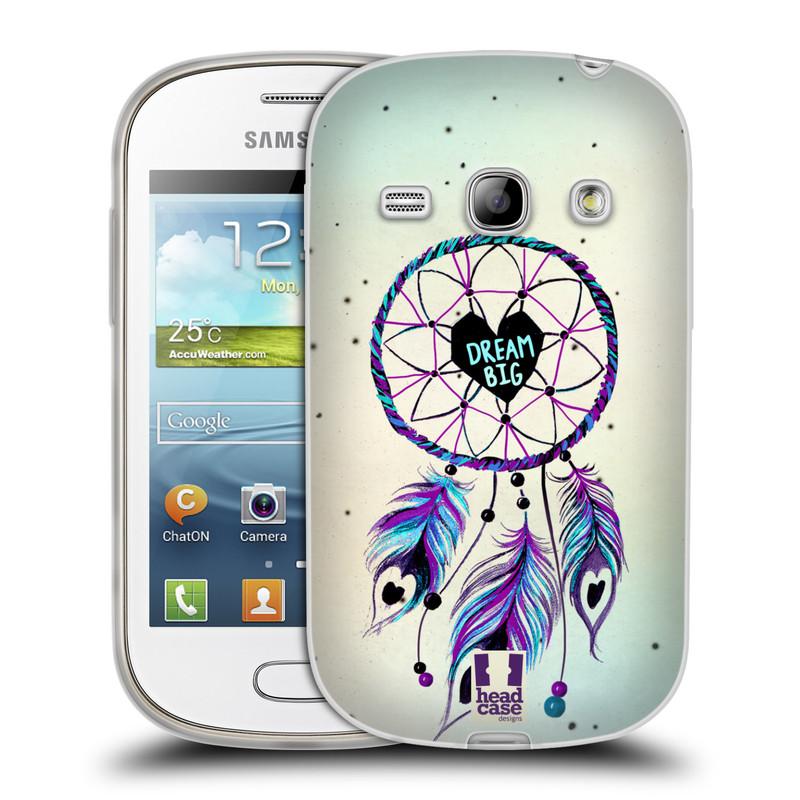 Silikonové pouzdro na mobil Samsung Galaxy Fame HEAD CASE Lapač Assorted Dream Big Srdce (Silikonový kryt či obal na mobilní telefon Samsung Galaxy Fame GT-S6810)
