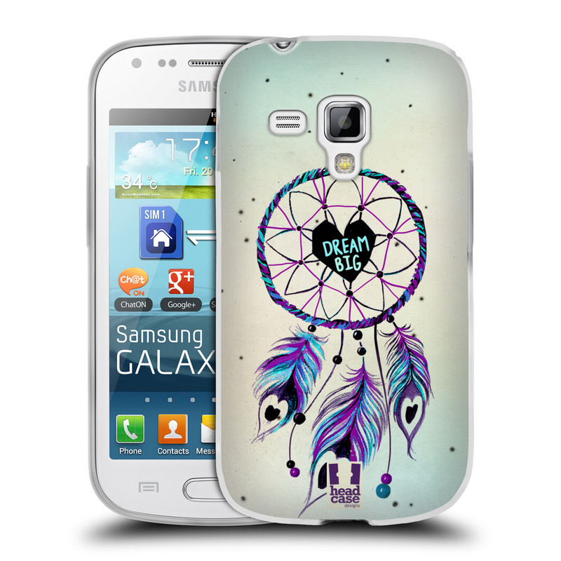 Silikonové pouzdro na mobil Samsung Galaxy Trend HEAD CASE Lapač Assorted Dream Big Srdce (Silikonový kryt či obal na mobilní telefon Samsung Galaxy Trend GT-S7560)