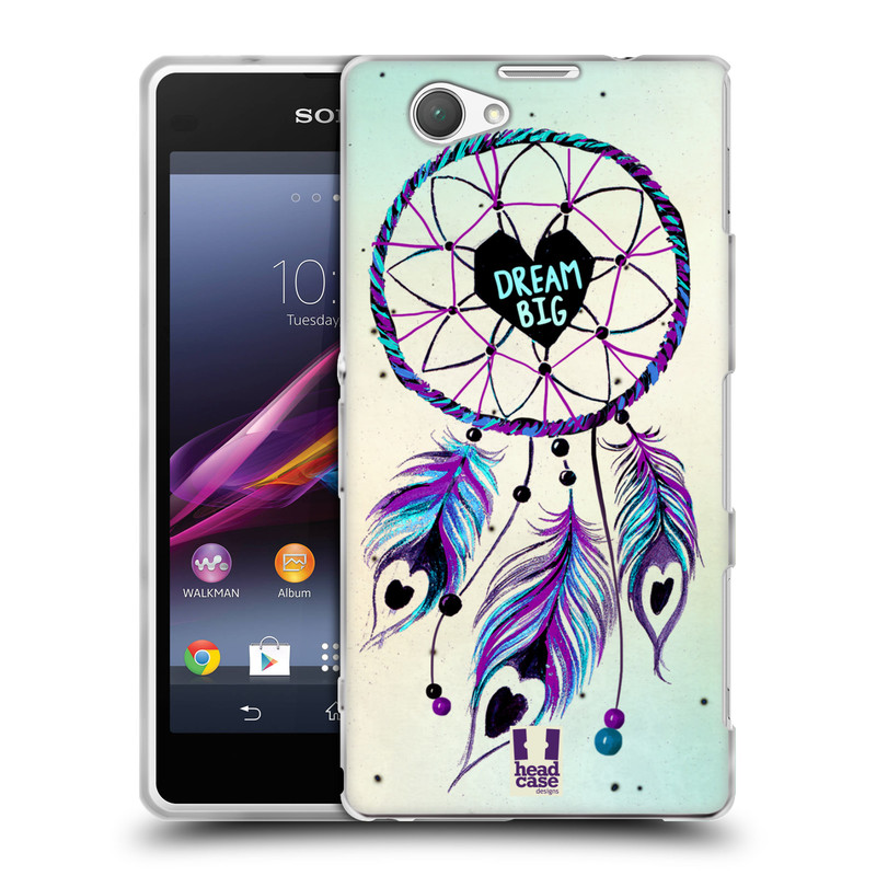 Silikonové pouzdro na mobil Sony Xperia Z1 Compact D5503 HEAD CASE Lapač Assorted Dream Big Srdce (Silikonový kryt či obal na mobilní telefon Sony Xperia Z1 Compact)