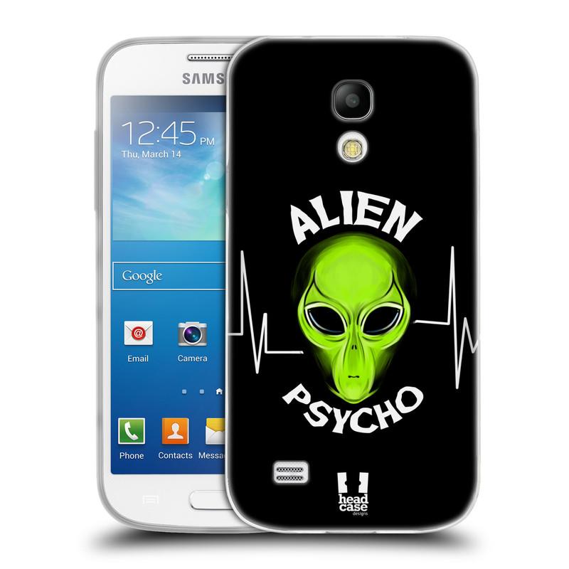 Silikonové pouzdro na mobil Samsung Galaxy S4 Mini VE HEAD CASE ALIENS PSYCHO (Silikonový kryt či obal na mobilní telefon Samsung Galaxy S4 Mini VE GT-i9195i (nepasuje na verzi Black Edition))
