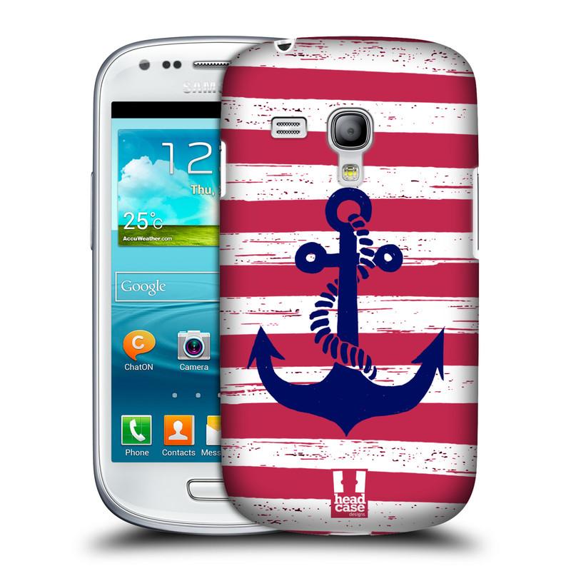 Plastové pouzdro na mobil Samsung Galaxy S III Mini HEAD CASE KOTVA S PRUHY (Kryt či obal na mobilní telefon Samsung Galaxy S III Mini GT-i8190)
