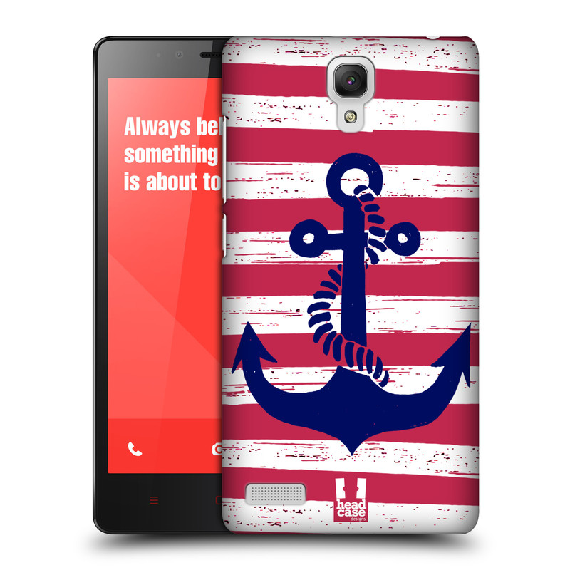 Plastové pouzdro na mobil Xiaomi Redmi Note LTE HEAD CASE KOTVA S PRUHY (Kryt či obal na mobilní telefon Xiaomi Redmi Note LTE (4G) s 5,5'' displejem)