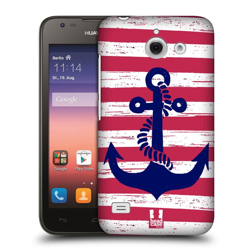 Plastové pouzdro na mobil Huawei Ascend Y550 HEAD CASE KOTVA S PRUHY (Kryt či obal na mobilní telefon Huawei Ascend Y550)