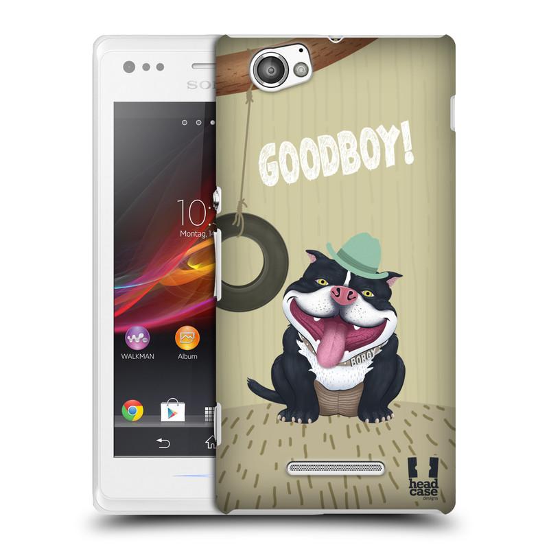 Plastové pouzdro na mobil Sony Xperia M C1905 HEAD CASE Goodboy! Pejsek (Kryt či obal na mobilní telefon Sony Xperia M )