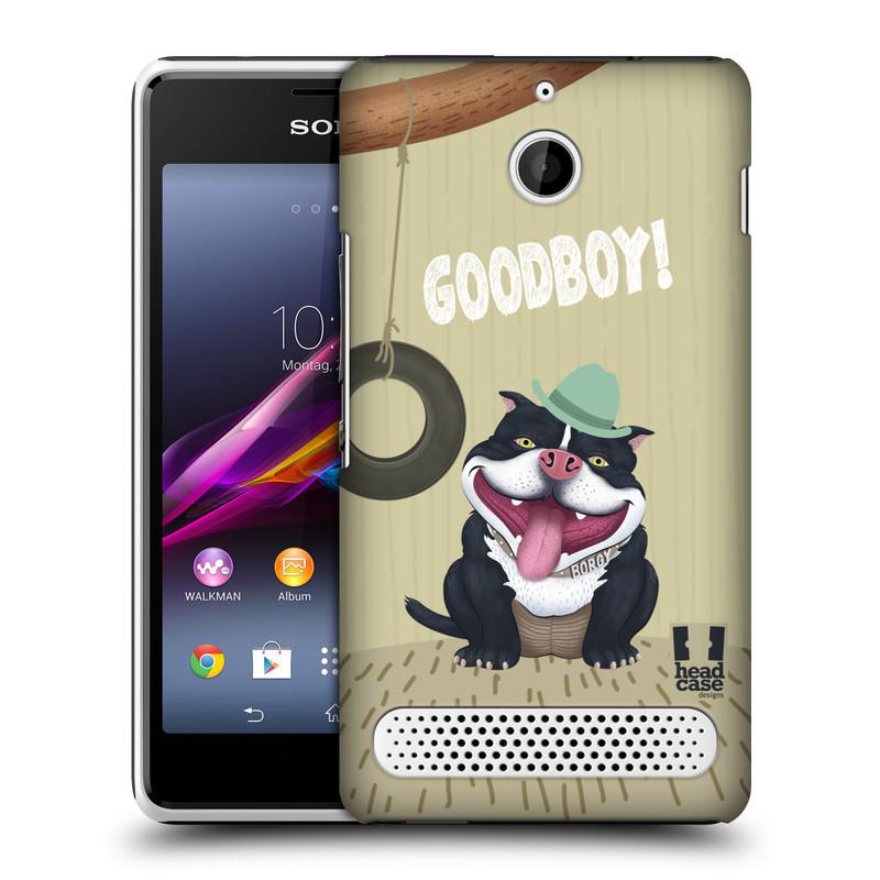 Plastové pouzdro na mobil Sony Xperia E1 D2005 HEAD CASE Goodboy! Pejsek (Kryt či obal na mobilní telefon Sony Xperia E1 a E1 Dual)