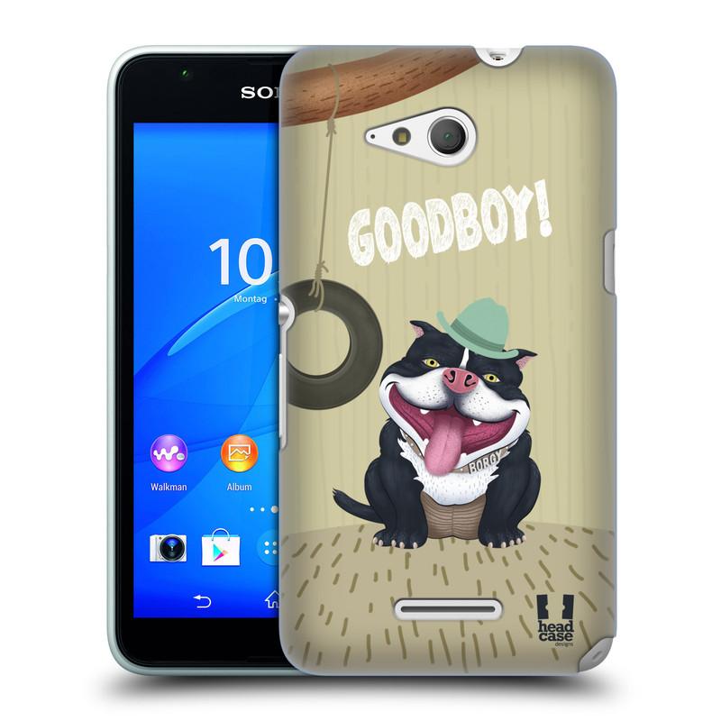 Plastové pouzdro na mobil Sony Xperia E4g E2003 HEAD CASE Goodboy! Pejsek (Kryt či obal na mobilní telefon Sony Xperia E4g a E4g Dual SIM)