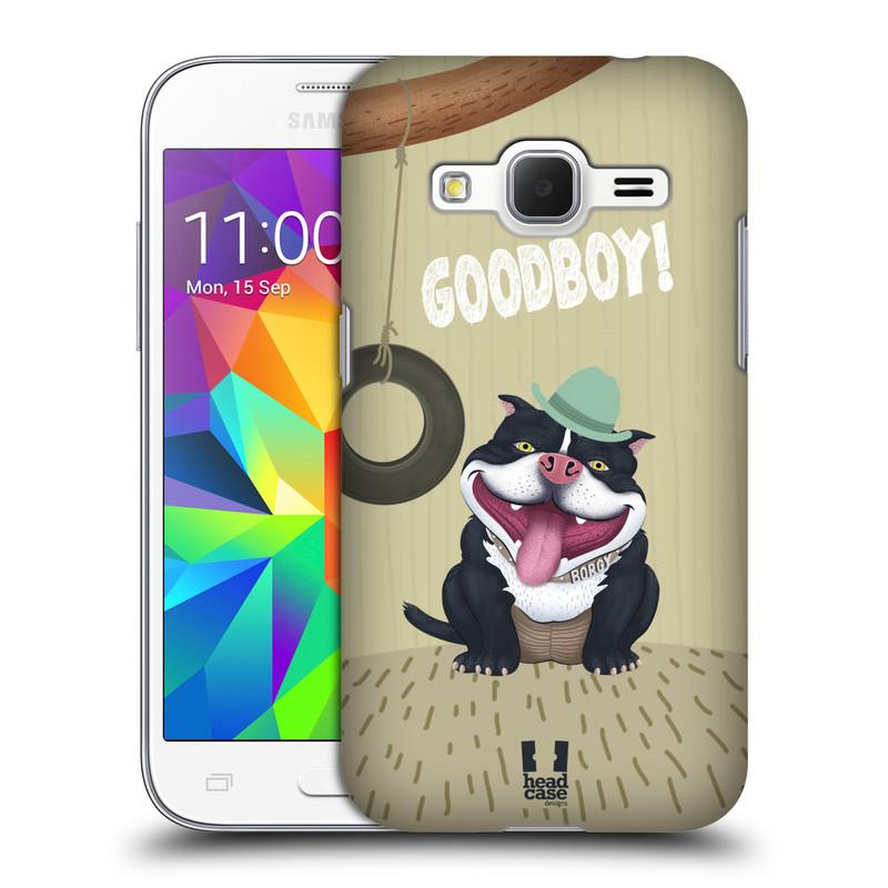 Plastové pouzdro na mobil Samsung Galaxy Core Prime LTE HEAD CASE Goodboy! Pejsek (Kryt či obal na mobilní telefon Samsung Galaxy Core Prime LTE SM-G360)