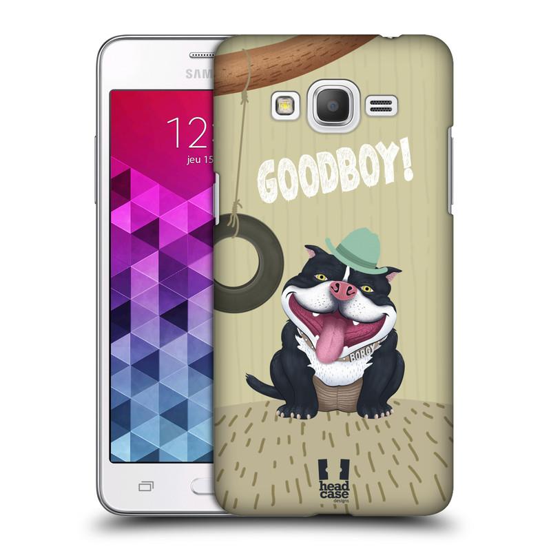 Plastové pouzdro na mobil Samsung Galaxy Grand Prime HEAD CASE Goodboy! Pejsek (Kryt či obal na mobilní telefon Samsung Galaxy Grand Prime SM-G530)