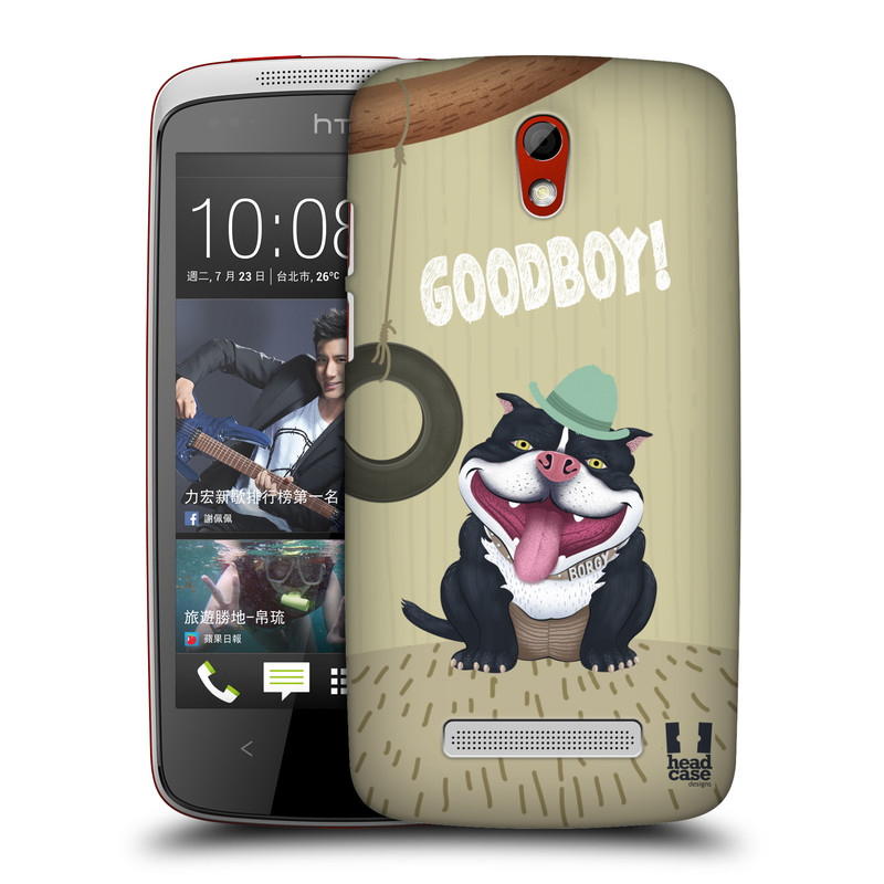 Plastové pouzdro na mobil HTC Desire 500 HEAD CASE Goodboy! Pejsek (Kryt či obal na mobilní telefon HTC Desire 500)