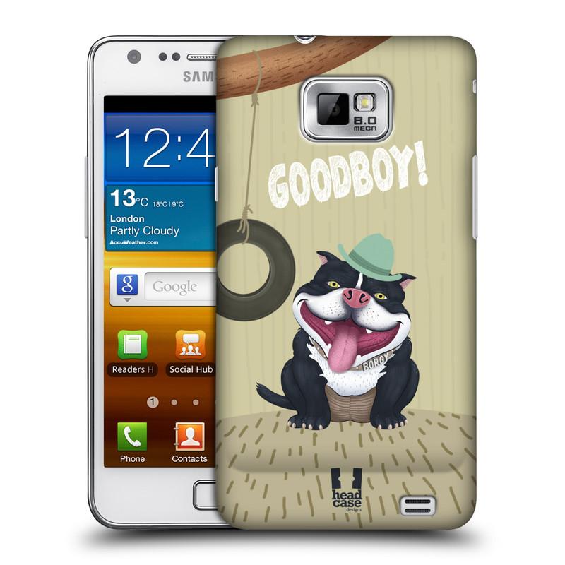 Plastové pouzdro na mobil Samsung Galaxy S II HEAD CASE Goodboy! Pejsek (Kryt či obal na mobilní telefon Samsung Galaxy S II GT-i9100)