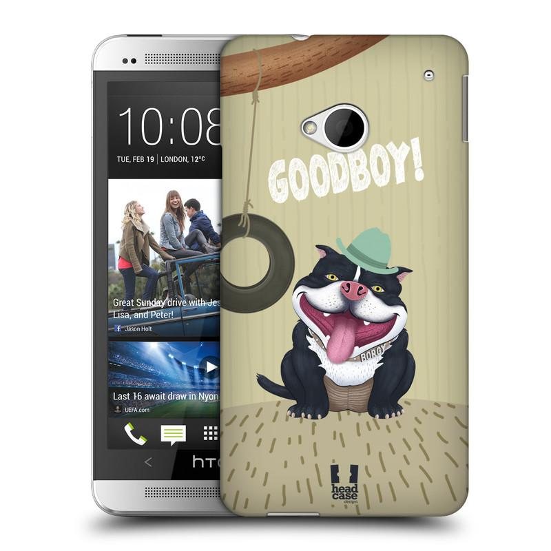 Plastové pouzdro na mobil HTC ONE M7 HEAD CASE Goodboy! Pejsek (Kryt či obal na mobilní telefon HTC ONE M7)
