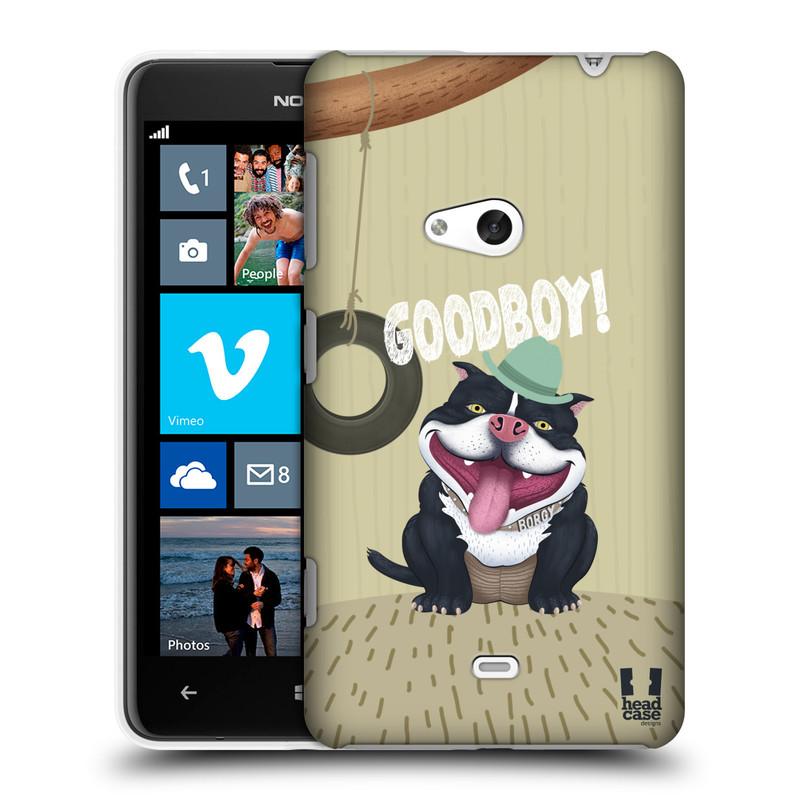 Plastové pouzdro na mobil Nokia Lumia 625 HEAD CASE Goodboy! Pejsek (Kryt či obal na mobilní telefon Nokia Lumia 625)