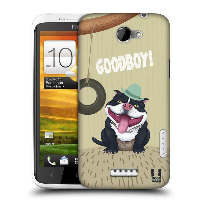 Plastové pouzdro na mobil HTC ONE X HEAD CASE Goodboy! Pejsek (Kryt či obal na mobilní telefon HTC ONE X)