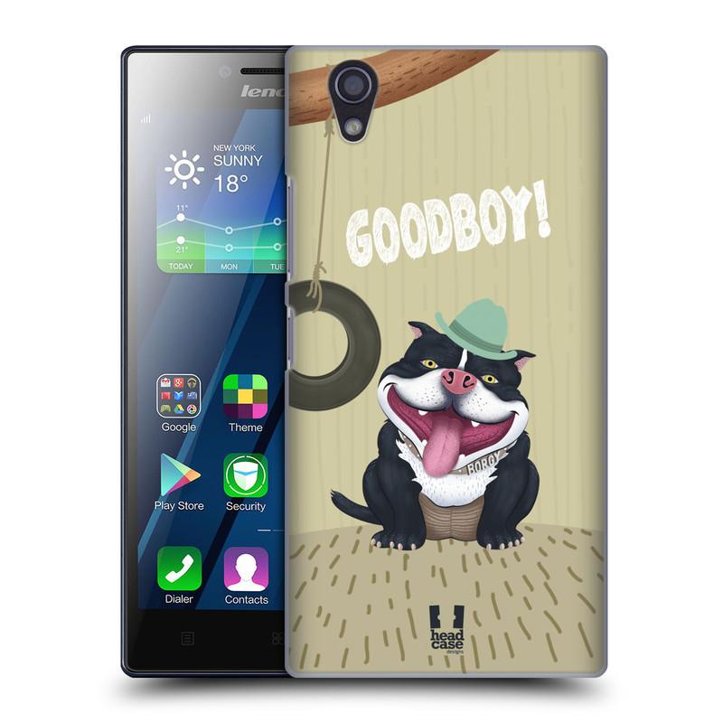 Plastové pouzdro na mobil Lenovo P70 HEAD CASE Goodboy! Pejsek (Kryt či obal na mobilní telefon Lenovo P70)