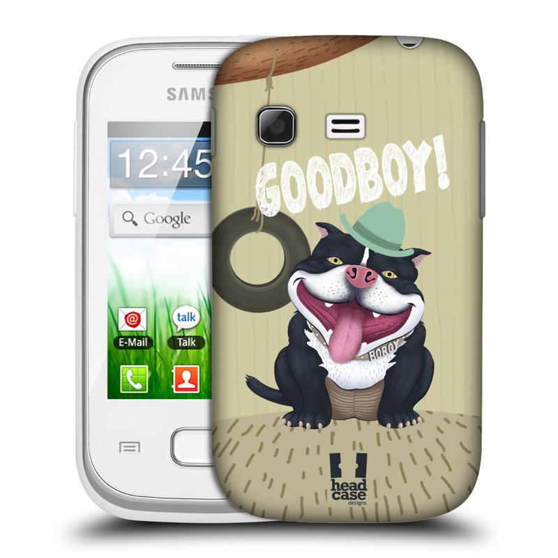 Plastové pouzdro na mobil Samsung Galaxy Pocket HEAD CASE Goodboy! Pejsek (Kryt či obal na mobilní telefon Samsung Galaxy Pocket GT-S5300)