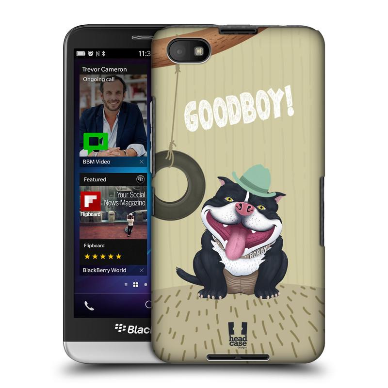 Plastové pouzdro na mobil Blackberry Z30 HEAD CASE Goodboy! Pejsek (Kryt či obal na mobilní telefon Blackberry Z30)