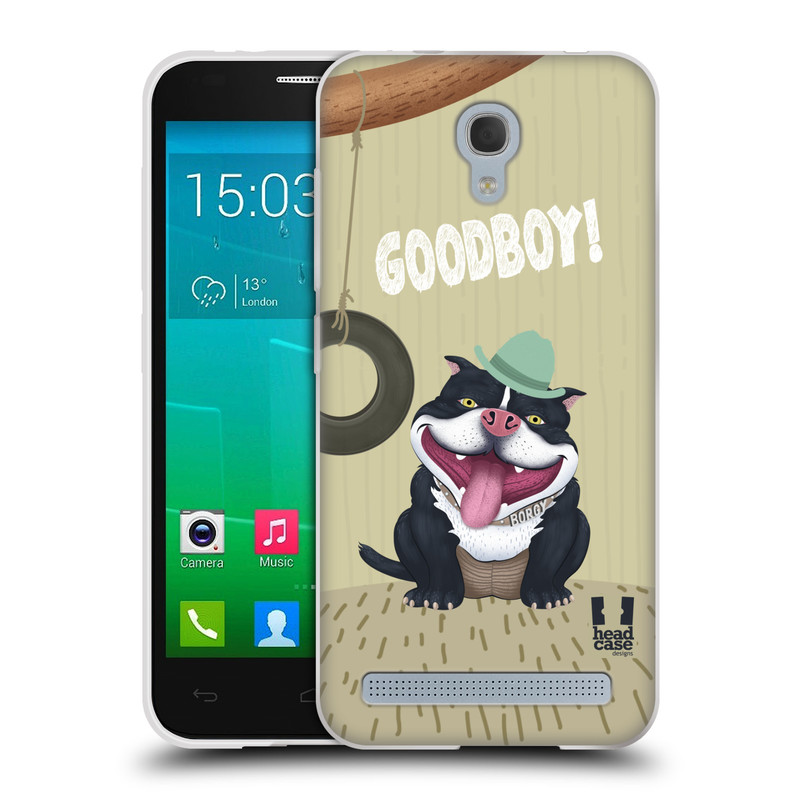 Silikonové pouzdro na mobil Alcatel One Touch Idol 2 Mini S 6036Y HEAD CASE Goodboy! Pejsek (Silikonový kryt či obal na mobilní telefon Alcatel Idol 2 Mini S OT-6036Y)