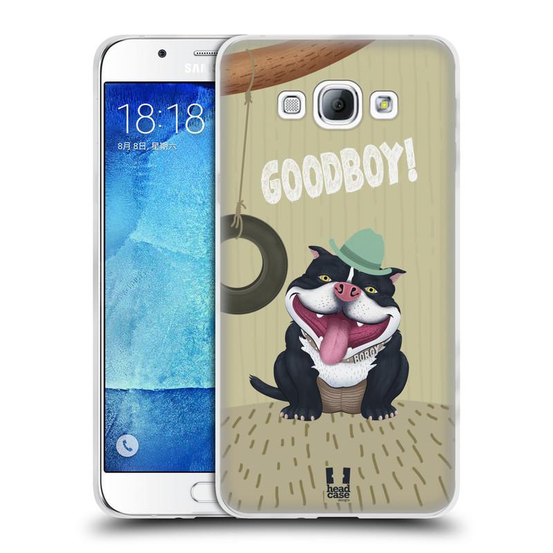 Silikonové pouzdro na mobil Samsung Galaxy A8 HEAD CASE Goodboy! Pejsek (Silikonový kryt či obal na mobilní telefon Samsung Galaxy A8 SM-A800)