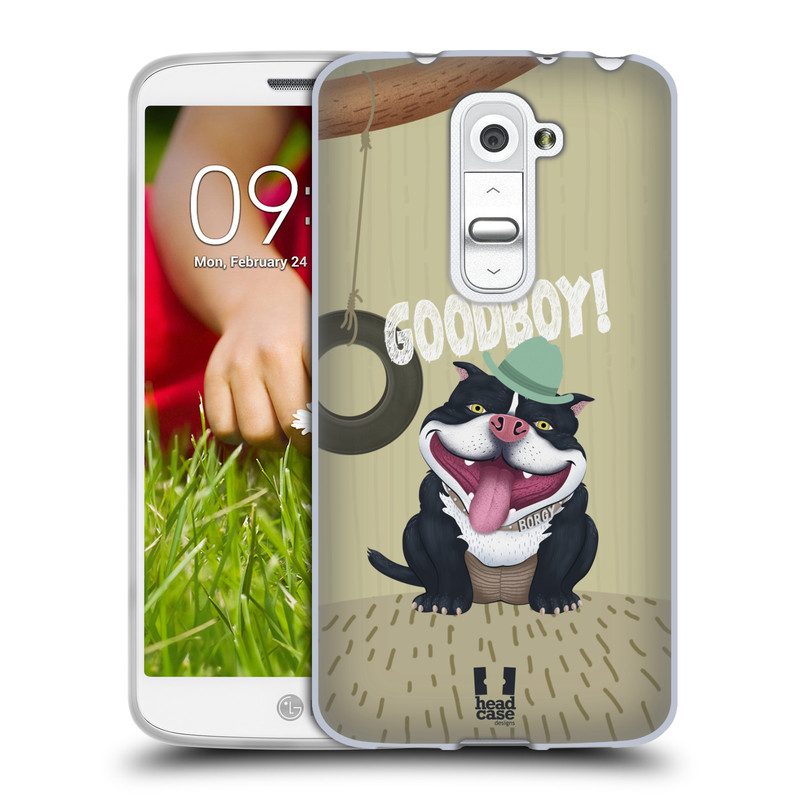 Silikonové pouzdro na mobil LG G2 Mini HEAD CASE Goodboy! Pejsek (Silikonový kryt či obal na mobilní telefon LG G2 Mini D620)