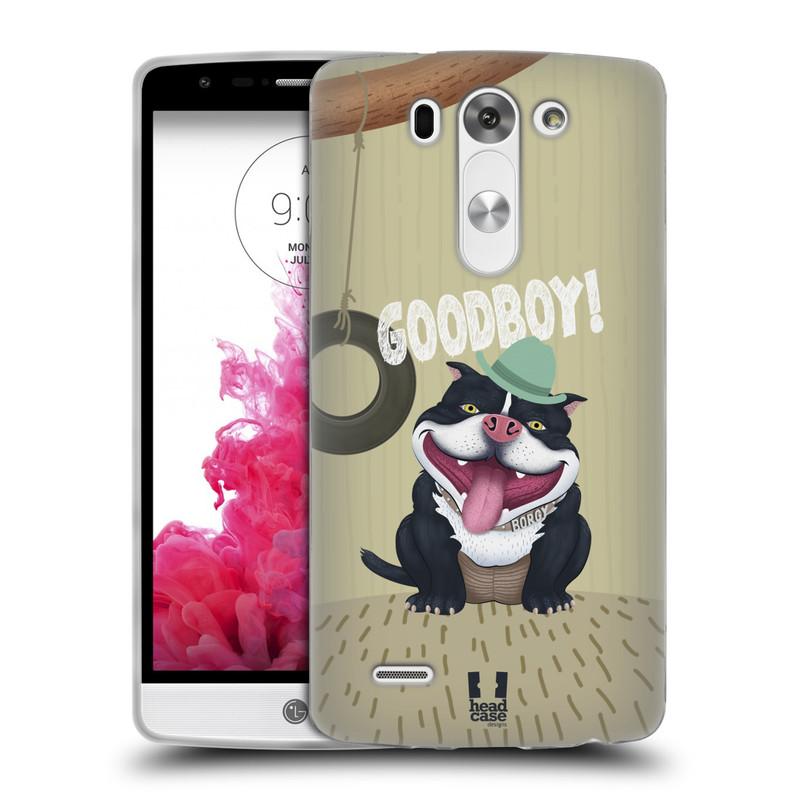 Silikonové pouzdro na mobil LG G3s HEAD CASE Goodboy! Pejsek (Silikonový kryt či obal na mobilní telefon LG G3s)