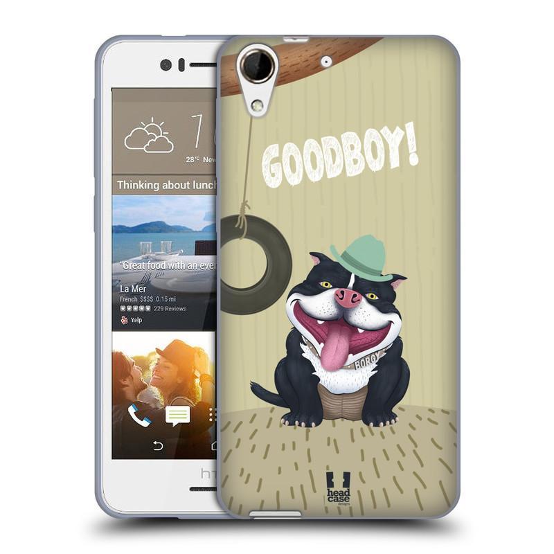 Silikonové pouzdro na mobil HTC Desire 728G Dual SIM HEAD CASE Goodboy! Pejsek (Silikonový kryt či obal na mobilní telefon HTC Desire 728 G Dual SIM)