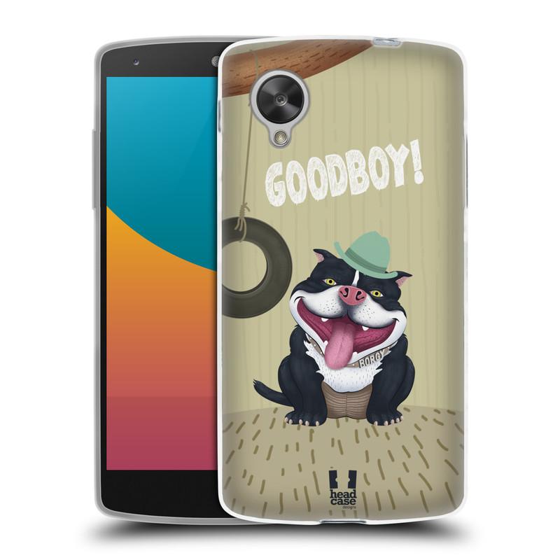 Silikonové pouzdro na mobil LG Nexus 5 HEAD CASE Goodboy! Pejsek (Silikonový kryt či obal na mobilní telefon LG Google Nexus 5 D821)