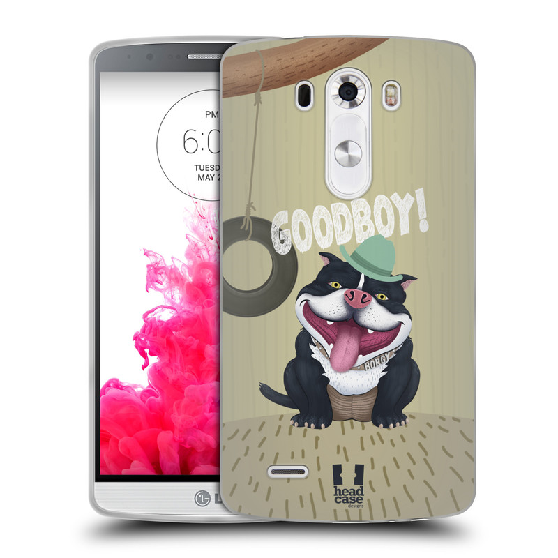 Silikonové pouzdro na mobil LG G3 HEAD CASE Goodboy! Pejsek (Silikonový kryt či obal na mobilní telefon LG G3)