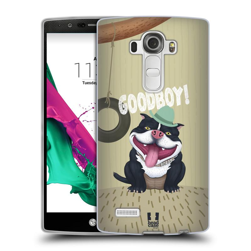 Silikonové pouzdro na mobil LG G4 HEAD CASE Goodboy! Pejsek (Silikonový kryt či obal na mobilní telefon LG G4 H815)
