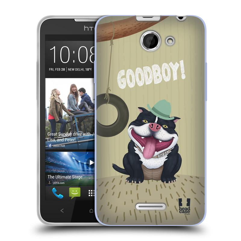 Silikonové pouzdro na mobil HTC Desire 516 HEAD CASE Goodboy! Pejsek (Silikonový kryt či obal na mobilní telefon HTC Desire 516 Dual SIM)