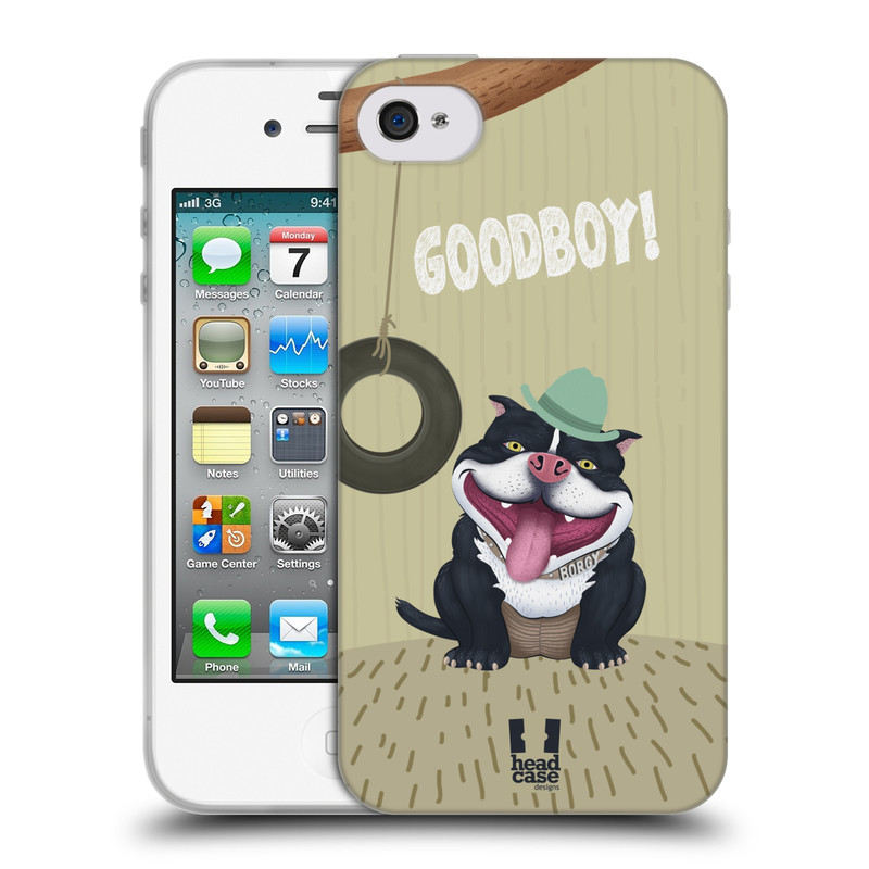 Silikonové pouzdro na mobil Apple iPhone 4 a 4S HEAD CASE Goodboy! Pejsek (Silikonový kryt či obal na mobilní telefon Apple iPhone 4 a 4S)