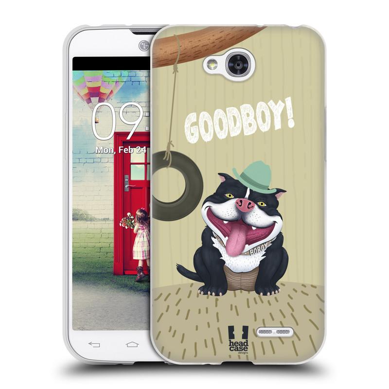 Silikonové pouzdro na mobil LG L90 HEAD CASE Goodboy! Pejsek (Silikonový kryt či obal na mobilní telefon LG L90 D405n)