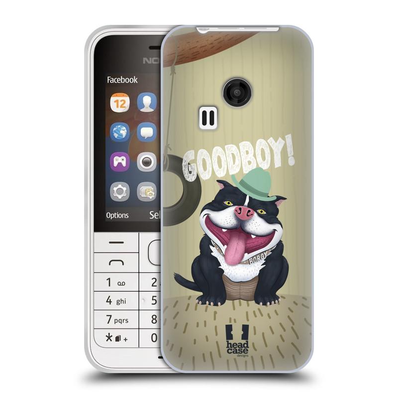 Silikonové pouzdro na mobil Nokia 220 HEAD CASE Goodboy! Pejsek (Silikonový kryt či obal na mobilní telefon Nokia 220 a 220 Dual SIM)