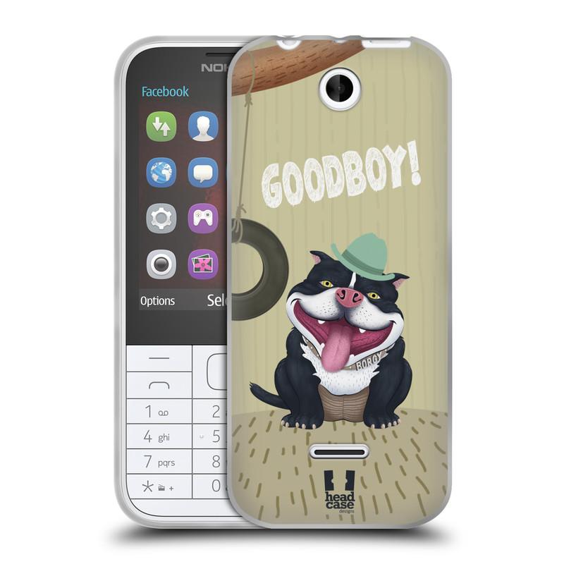 Silikonové pouzdro na mobil Nokia 225 HEAD CASE Goodboy! Pejsek (Silikonový kryt či obal na mobilní telefon Nokia 225)