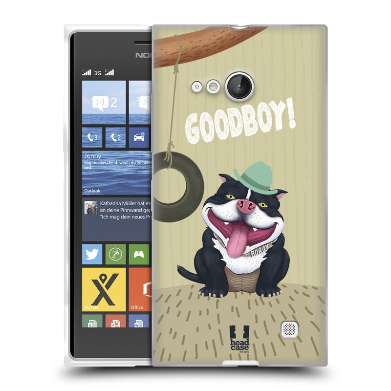 Silikonové pouzdro na mobil Nokia Lumia 730 Dual SIM HEAD CASE Goodboy! Pejsek (Silikonový kryt či obal na mobilní telefon Nokia Lumia 730 Dual SIM)