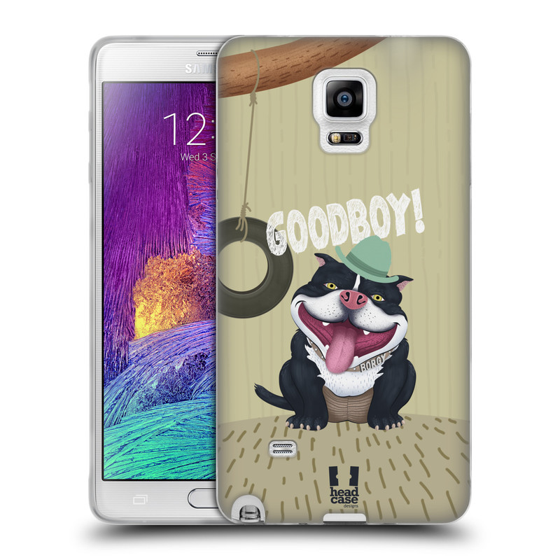 Silikonové pouzdro na mobil Samsung Galaxy Note 4 HEAD CASE Goodboy! Pejsek (Silikonový kryt či obal na mobilní telefon Samsung Galaxy Note 4 SM-N910F)